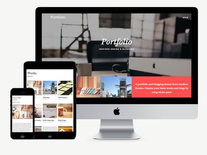 Portfolio : Free Responsive Multipurpose WordPress Theme