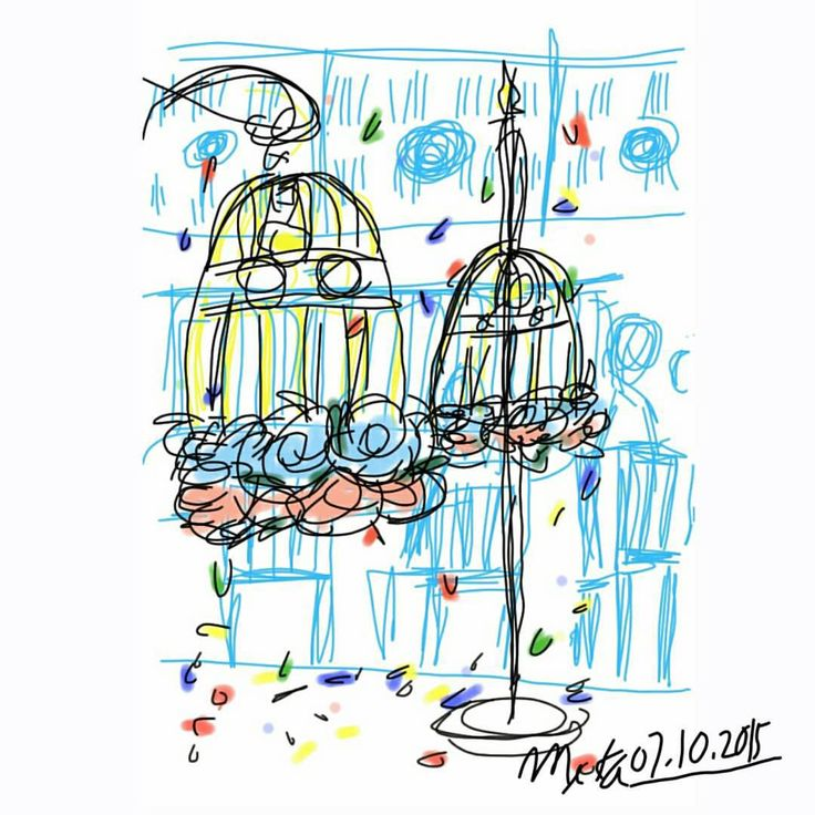 attending wedding reception #mekaworks #drawing