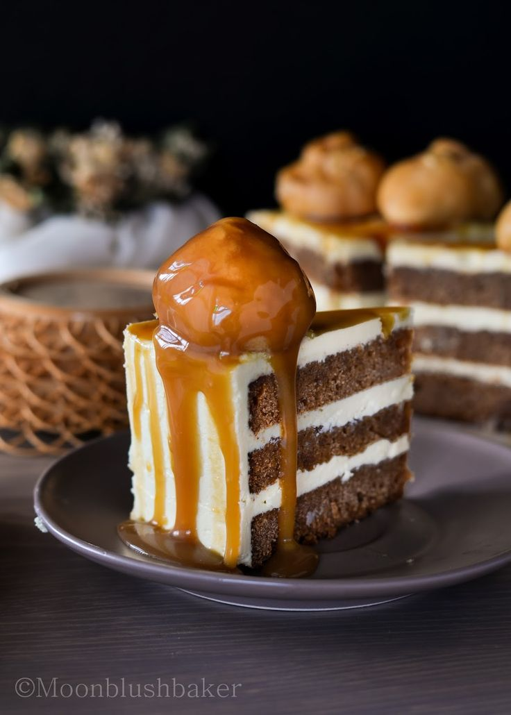 Caramel Mud Cake With Butter Cream Icing