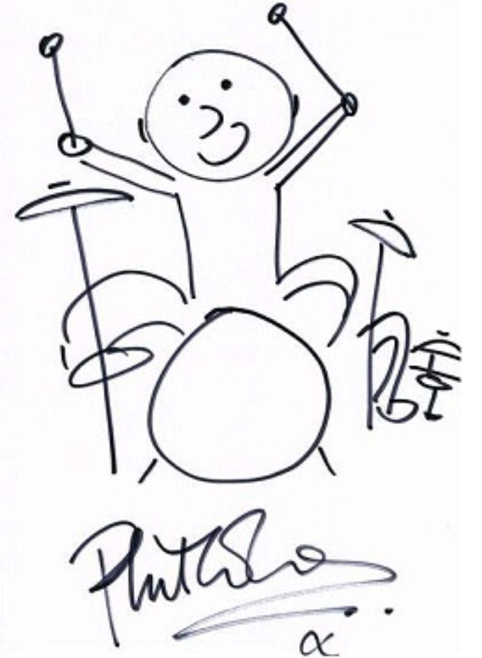 Phil Collins sketch. Always loved this! #drummers