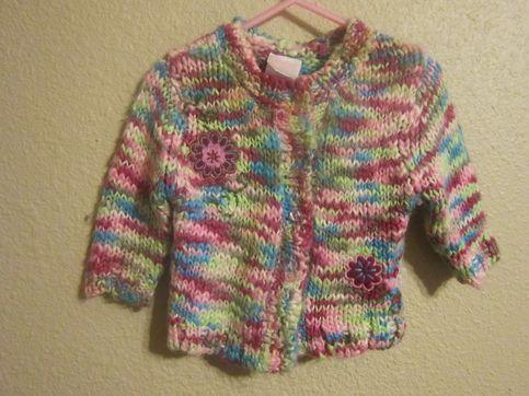 Nannette brand size 12m Colorful crochet cardigan sweater  Similar items retail $10-40