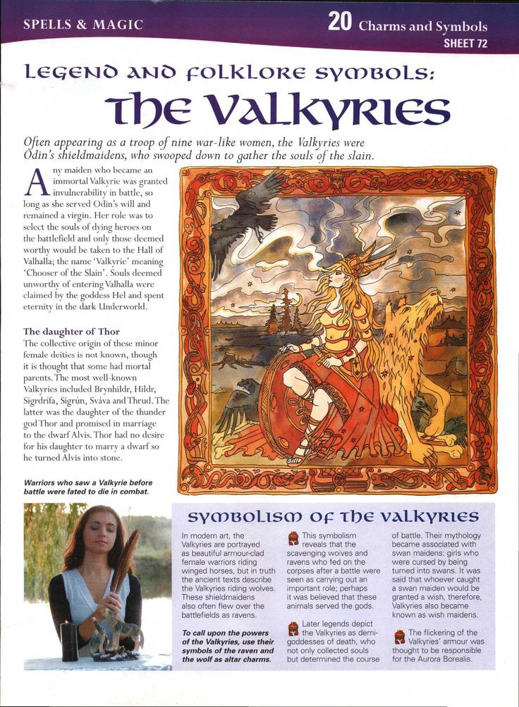 Legend and Folklore symbols: The Valkyries
