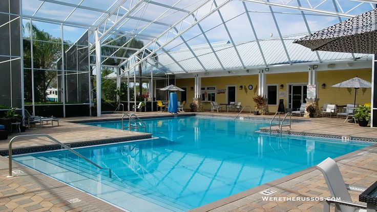 Review of the Lazyday RV Resort and Campground with 300 full hookup sites. Amenities include free breakfast and lunch, pool and jacuzzi, and free wifi. The resort is part of Lazydays RV dealership and guests can take the free shuttle or walk to the dealership and accessories store.