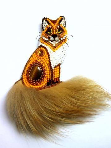 Inspiration ... fox brooch by Lyub.Nik