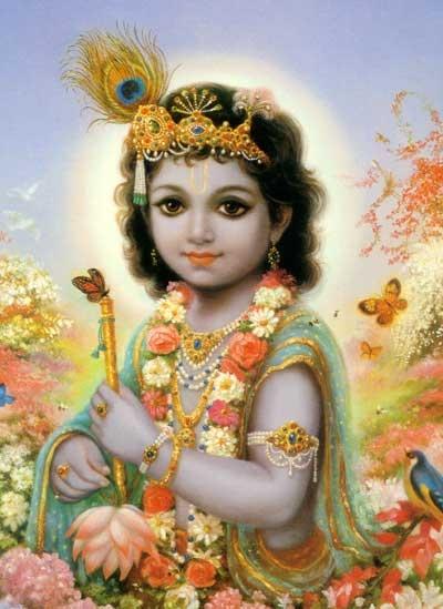 baby Krishna,   the wise divine child archetype