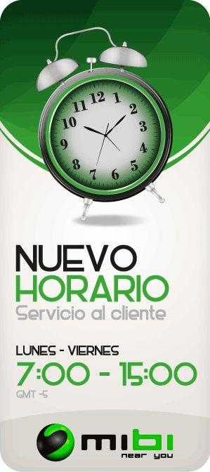 mibi Recargas: Nuevo horario de atención al cliente http://www.mibirecargas.com