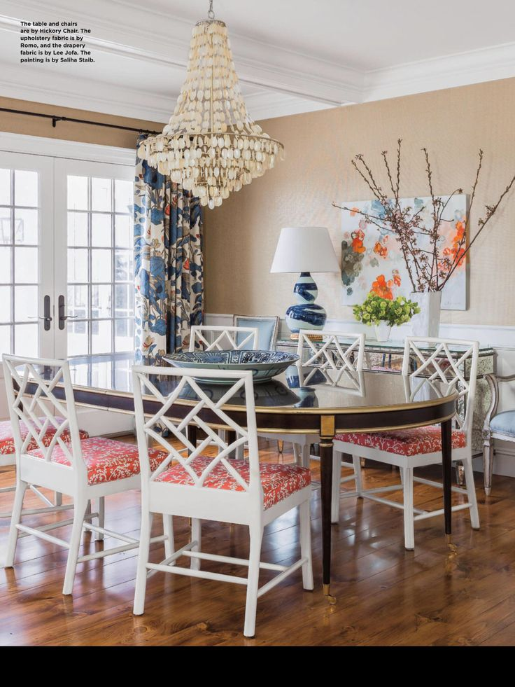 Classic trad Dining room design, Dining room drapes