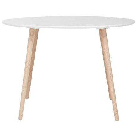Brandon Dining Table 110cm Diameter  White/Oak