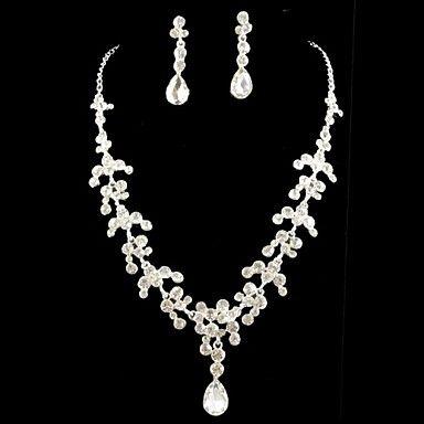 Nupcial do casamento da dama de honra de cristal colar de brincos conjunto de jóias – EUR € 12.34