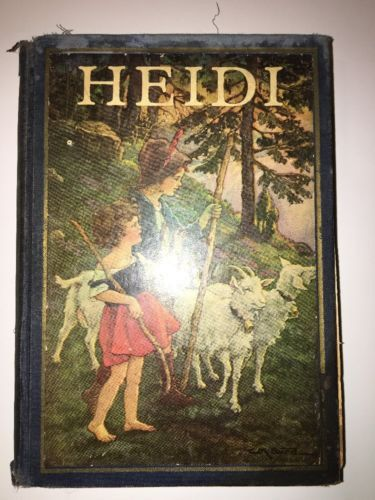 HEIDI by JOHANNA SPYRI Illustrated by CLARA BURD John Winston 1924 VINTAGE RARE