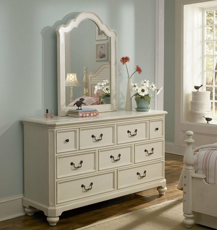 Amazon Com Lea Retreat White 7 Drawer Dresser W