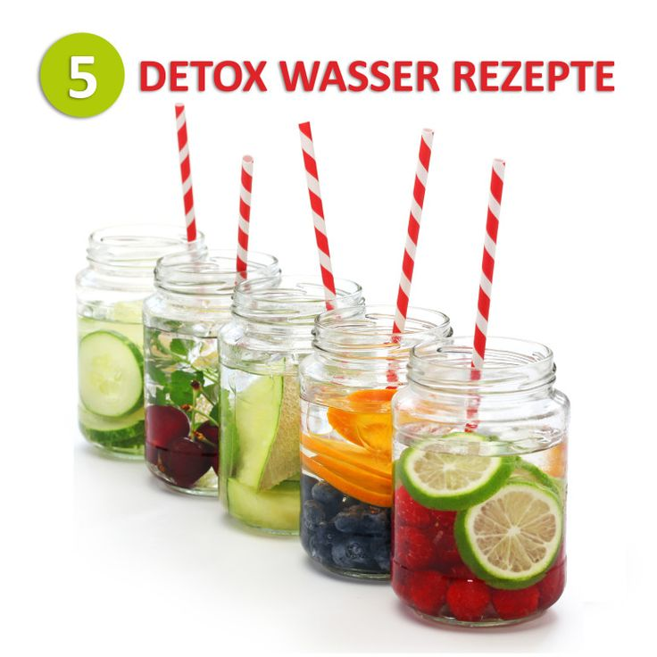 5 Detox wasser Rezepte. Entdeckt von Vegalife Rocks: www.vegaliferocks.de ✨ I Fleischlos glücklich, fit & Gesund✨ I Follow me for more vegan inspiration @vegaliferocks