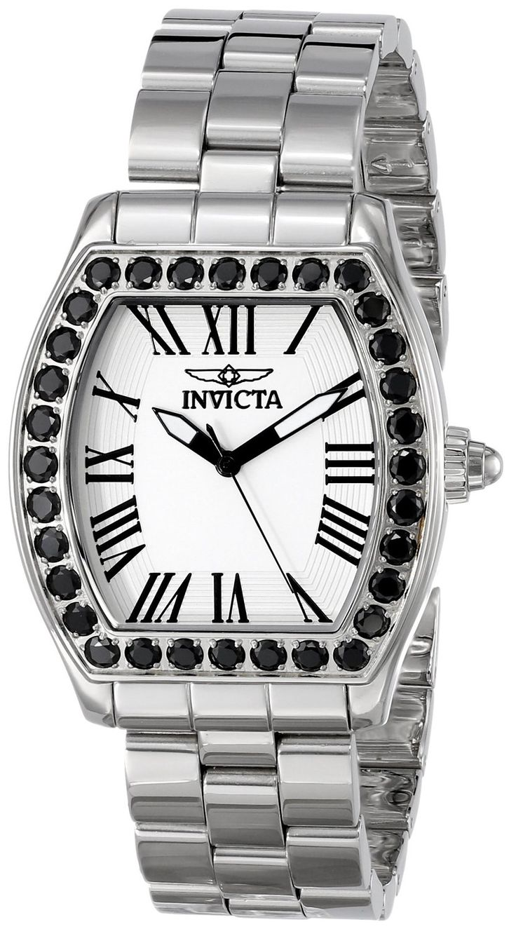 Invicta Women's 14107 Angel Analog Display Swiss Quartz Silver Watch.  Bringing you the best luxury watches online at the most affordable prices for premium brand name watches: http://www.bestwatches1st.com/#!invicta-angel-watch-collection/kb04e