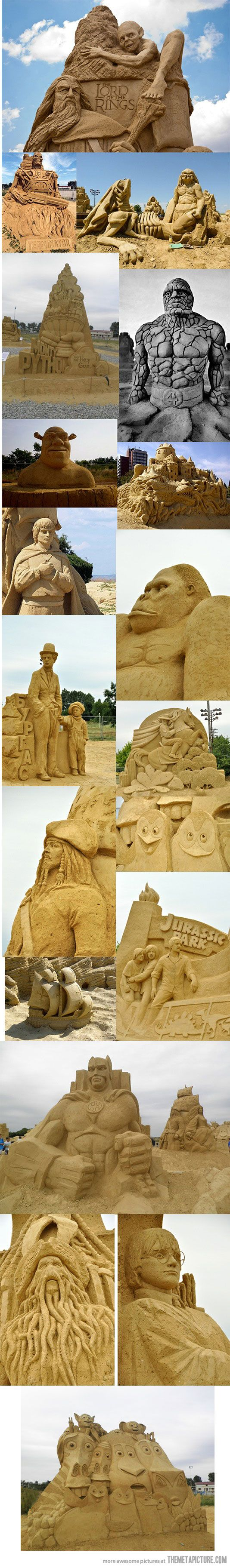 WOW look at these sand sculptures!