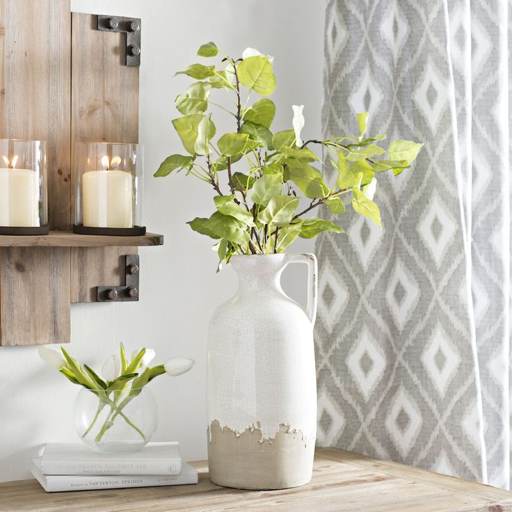 Style your seasonal stems in this vintage cottage vase.