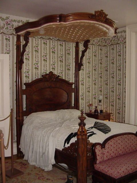 Half Tester Bed, with Padded Canopy