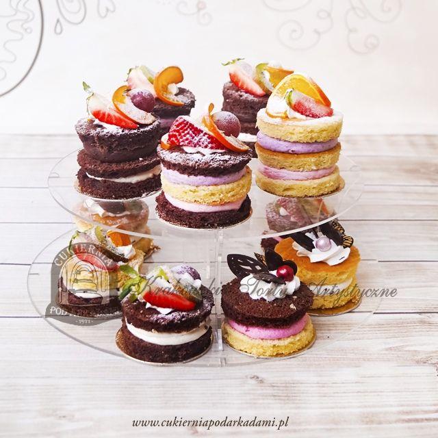 24BC Naked minicakes - biszkoptowe minitorciki z owocami. Naked mini-cakes.