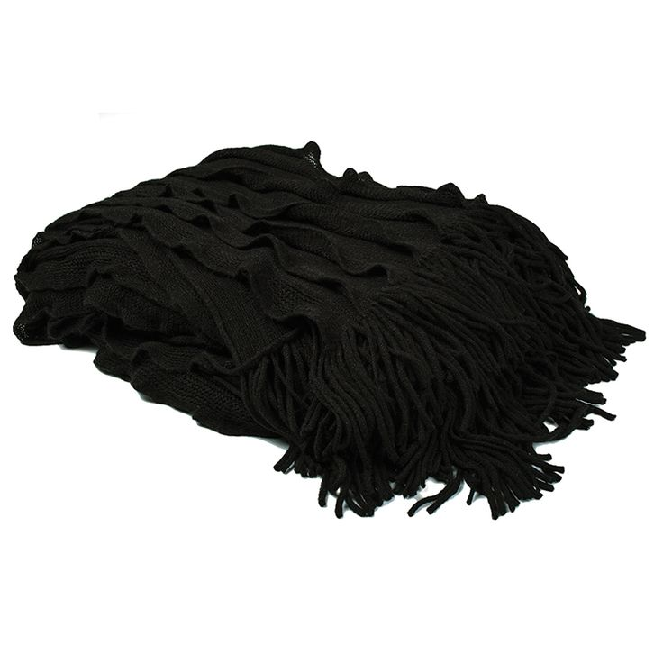 Black Ruffle Throws - eternally on-trend statement pieces