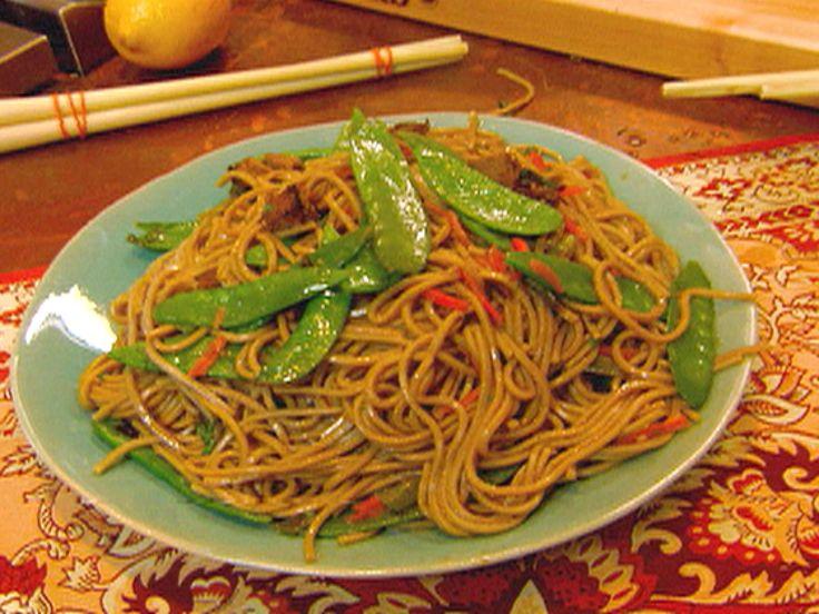 Beef Lo Mein recipe from Robin Miller via Food Network