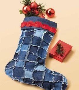 Denim Patch Stocking: Apparel Fabric Projects: Shop   Joann.com