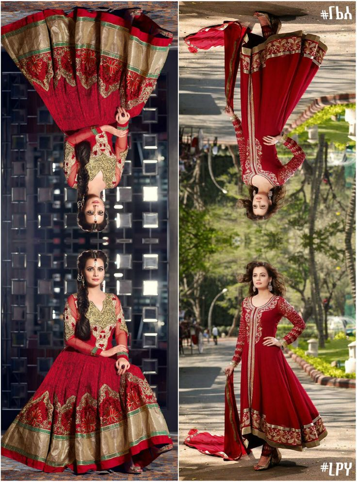 Red #Anarkali #DiaMirza #Bollywood #Edit #LPY