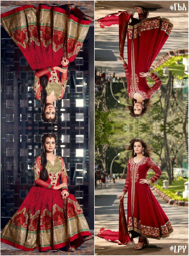 Red #Anarkali #DiaMirza #Bollywood #Edit #LPY