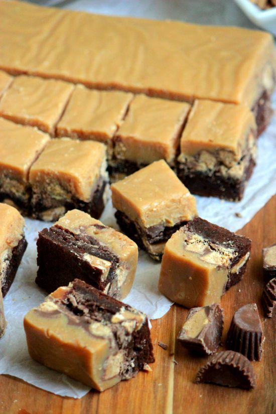 Peanut Butter Fudge Brownies #ExpressLaneCooking