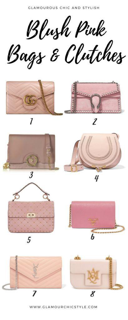 Blush Pink Clutch #Bags Handbags | #Millenial Pink | #BlushPink | #SalmonPink | #Fashion #Style |