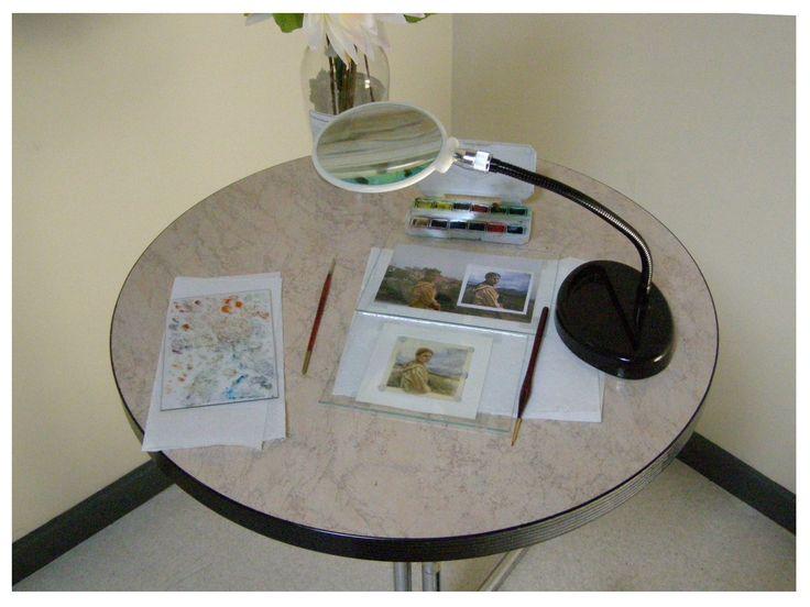 workplace for miniaturist