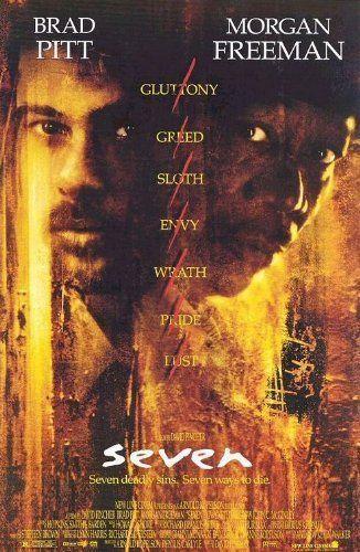 Seven (1995) a film by David Fincher + MOVIES + Morgan Freeman + Brad Pitt + Kevin Spacey + Andrew Kevin Walker + Daniel Zacapa + Gwyneth Paltrow + cinema + Crime + Mystery + Thriller