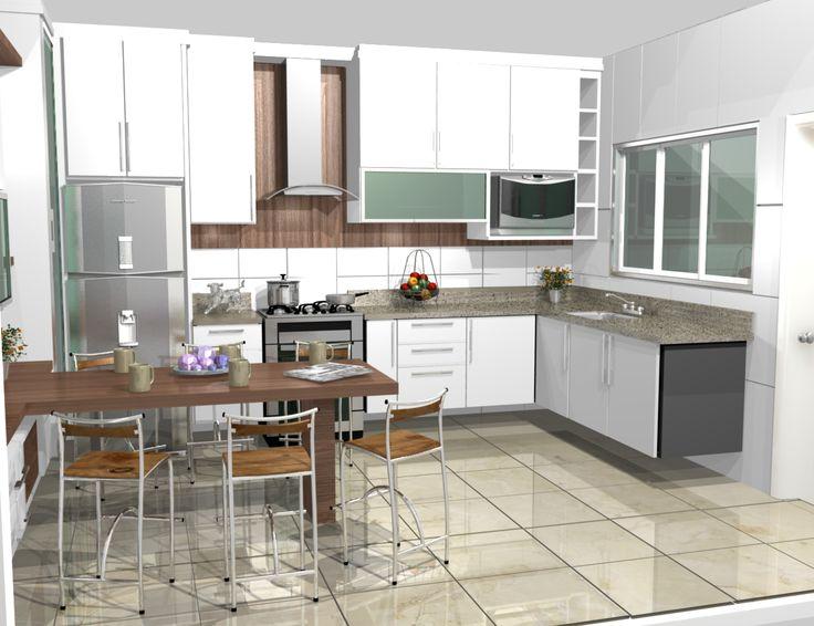 cozinha planejadas pequenas decorada americana em L