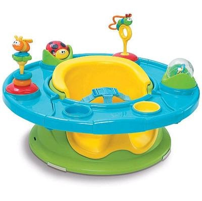 This thing was amazing with my son!  Bath seat in the sink, play seat in the yard/park, snack seat in the living room, Everything.  And I just got one for my new baby too!