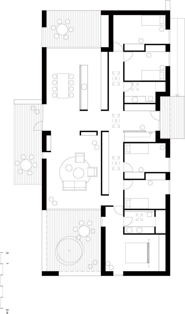 Gallery Of L A Villa N P Architecture 21 In 2020 Architectural Floor Plans Modern House Floor Plans Architecture House