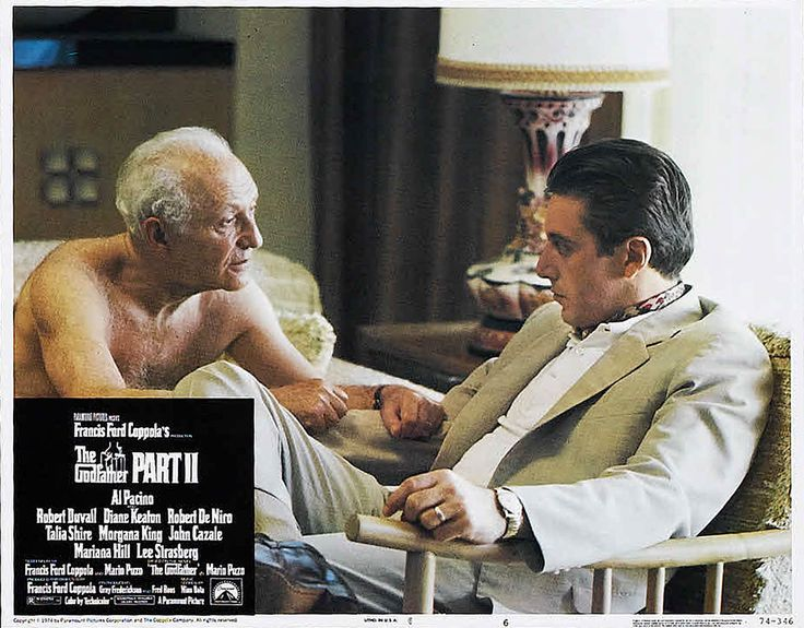 Lee Strasberg as Hyman Roth and Al Pacino as Michael Corleone in The Godfather Part II (1974)