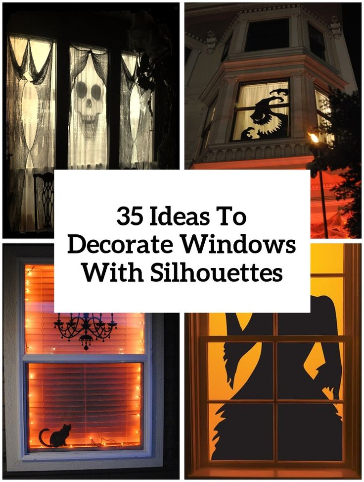 25 ideas to decorate windows with silhouettes on