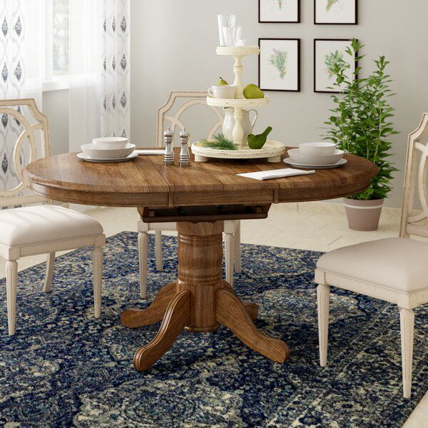 Teagan Extendable Dining Table Traditional Dining Tables Pedestal Dining Table Extendable Dining Table