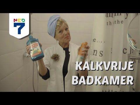 Badkamer schoonmaken ontkalken - YouTube