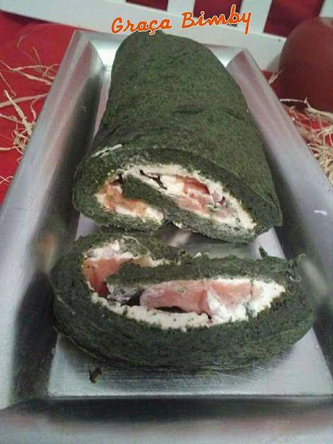 Bimby Truques & Dicas: Rolo de espinafres com queijo e salmão fumado-Paleo