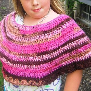 Recession Poncho:  How to Crochet a Child's Poncho - 8 Quick and Easy Steps