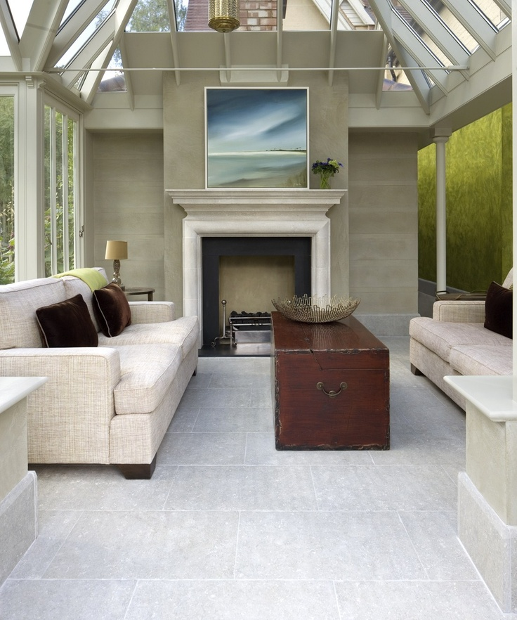 A modern conservatory living room