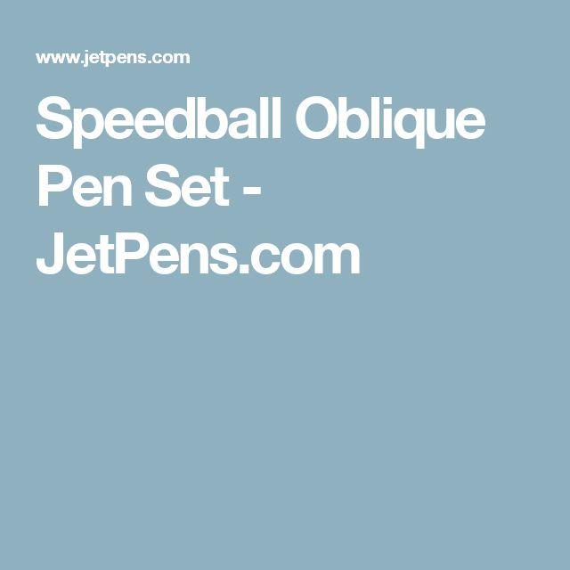 Speedball Oblique Pen Set - JetPens.com