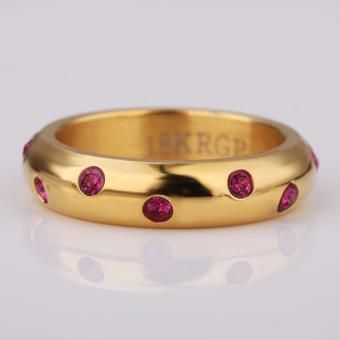 Twinkling 18 Karat Gold Plated Ring