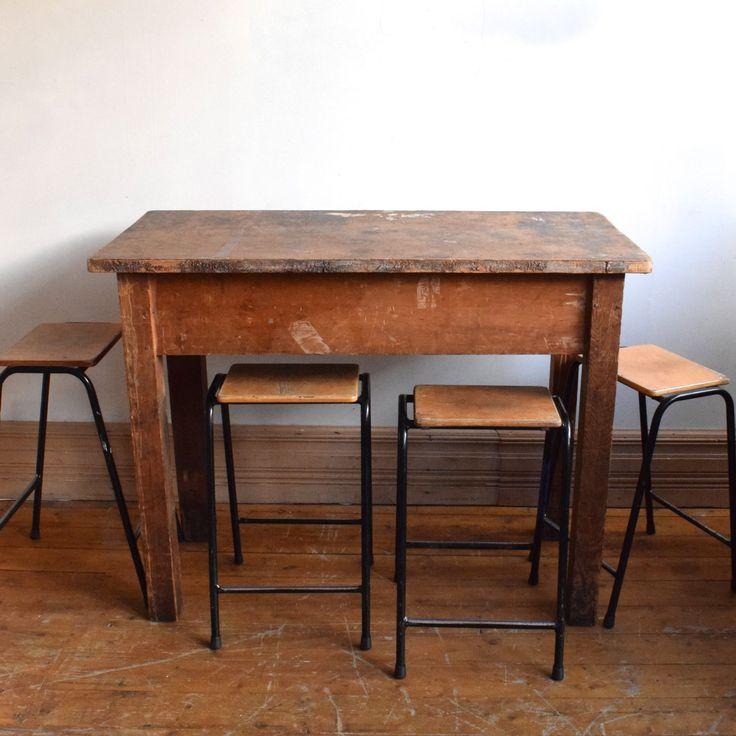 Tall Vintage Industrial Table