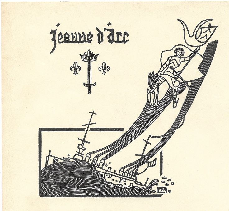 Papier à entête de la Jeanne d'Arc. 1923.