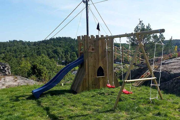 Treverksglade Marius Markussen har bygget et borg ut av huskestativet til datteren. Se hvordan du kan gjøre det og!