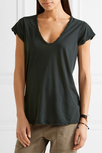 James Perse - Cotton-jersey T-shirt - Forest green - 1