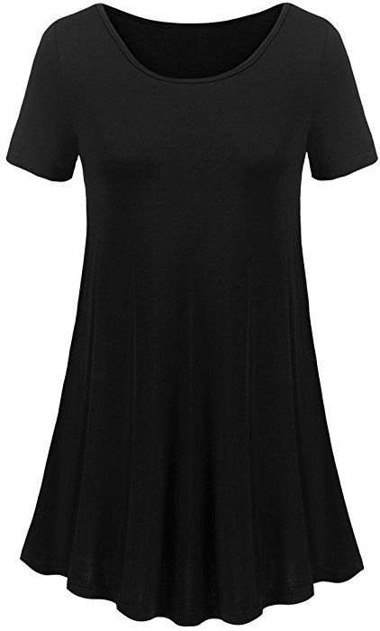 7798fd1d20c Uvog Women Short Sleeve Swing Tunic Tops Plus Size T Shirt (3XL ...