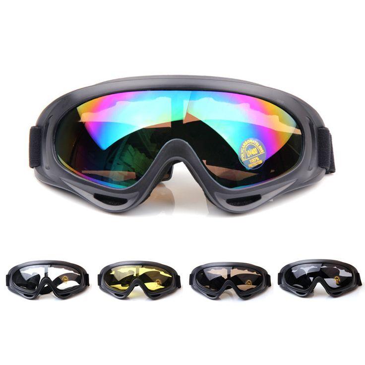 Adulte Snow Lunettes de ski coloré objectif Motocross anti-buée Mode protection des yeux Lunettes de sport, Homme, Graffiti