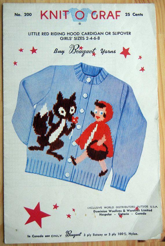 KnitOGraf Knitting Pattern No 200 Nursery by CollectingCorner, $9.50