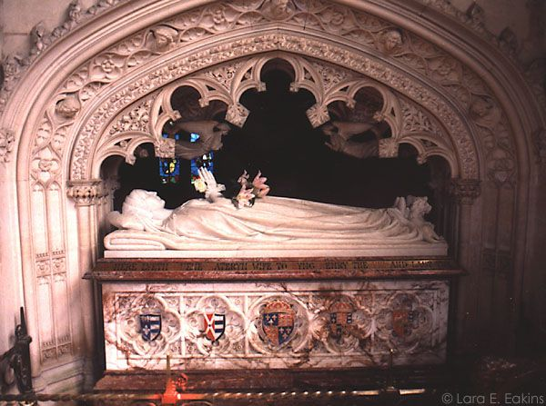The tomb of Katherine Parr, St. Mary's Church, Sudeley Castle  Photograph by Lara E. Eakins
